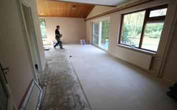 Vloertegels.nl - bezig met kwakkel, Werk in uitvoering,het leveren en het leggen van vloertegels in epe.